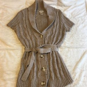 Arizona Jean Company cable sweater large button up
